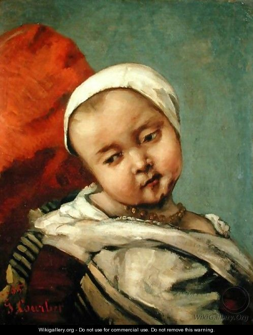 Head of a Baby, 1865 - Gustave Courbet