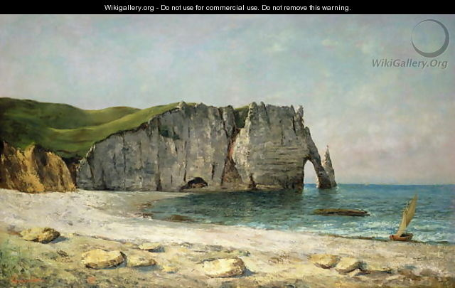 The Sea-Arch at Etretat, 1869 - Gustave Courbet