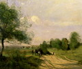 The Wagon, Souvenir of Saintry, 1874 - Jean-Baptiste-Camille Corot