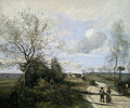 Saintry, near to Corbeil, the white road - Jean-Baptiste-Camille Corot