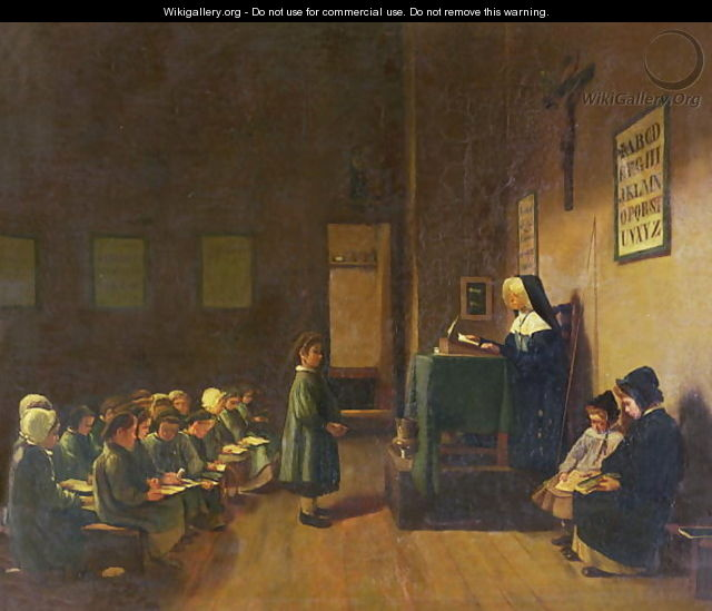 The Schoolroom, 1876 - François Bonvin