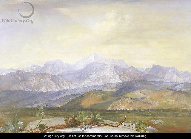 The Carrara Mountains, c.1876-80 - George Frederick Watts