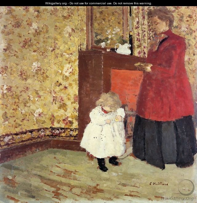 Mother and Child, 1900 - Edouard (Jean-Edouard) Vuillard