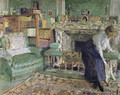 Marguerite Chapin in her Apartment with her dog, 1910 - Edouard (Jean-Edouard) Vuillard