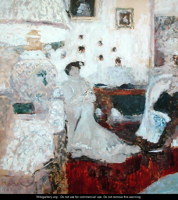 The Conversation under the Lamp, c.1914 - Edouard (Jean-Edouard) Vuillard
