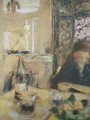 The Mother of the Artist Reading - Edouard (Jean-Edouard) Vuillard
