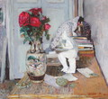 Statuette by Maillol and Red Roses, c.1903-05 - Edouard (Jean-Edouard) Vuillard