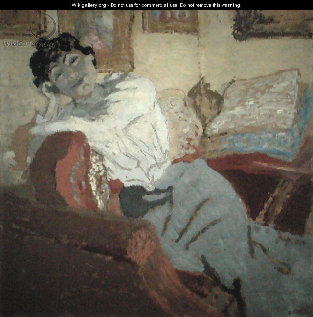 Madame Hessel on the Sofa, 1900 - Edouard (Jean-Edouard) Vuillard