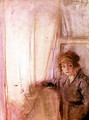 Woman Leaning by a Window - Edouard (Jean-Edouard) Vuillard