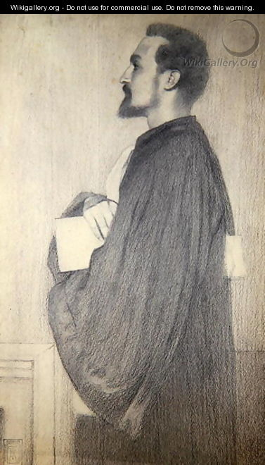 Portrait of a Man - Fernand Khnopff
