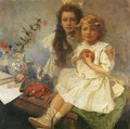 Jaroslava and Jiri - The Artist's Children. 1919 - Alphonse Maria Mucha