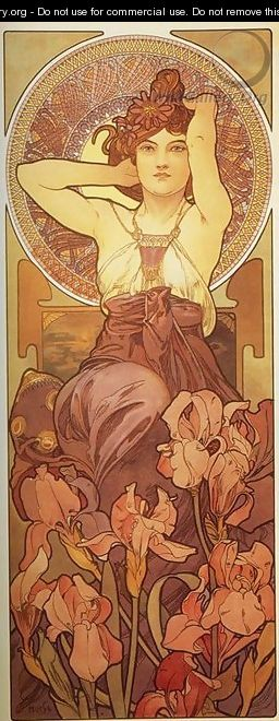 Amethyst. From The Precious Stones Series. 1900 - Alphonse Maria Mucha