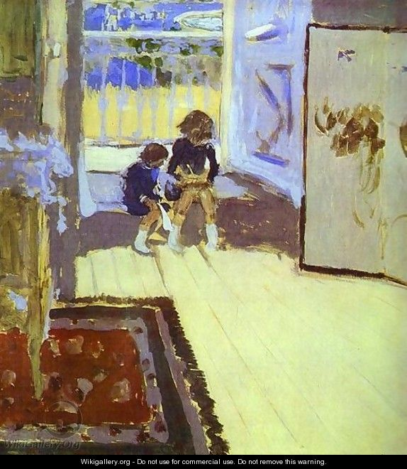 Children in a Room. 1909 - Edouard (Jean-Edouard) Vuillard