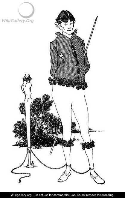 Self Portrait Tied to a Herm - Aubrey Vincent Beardsley
