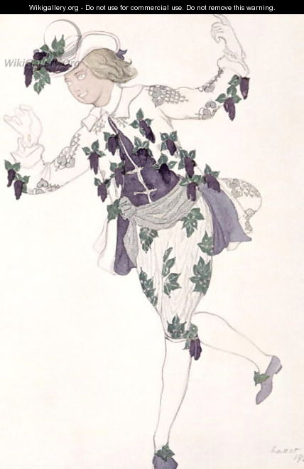 Costume design for the Pageboy of the Fairy Lilac, from Sleeping Beauty, 1921 - Leon (Samoilovitch) Bakst
