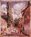 Road in a Village - Alfred Sisley
