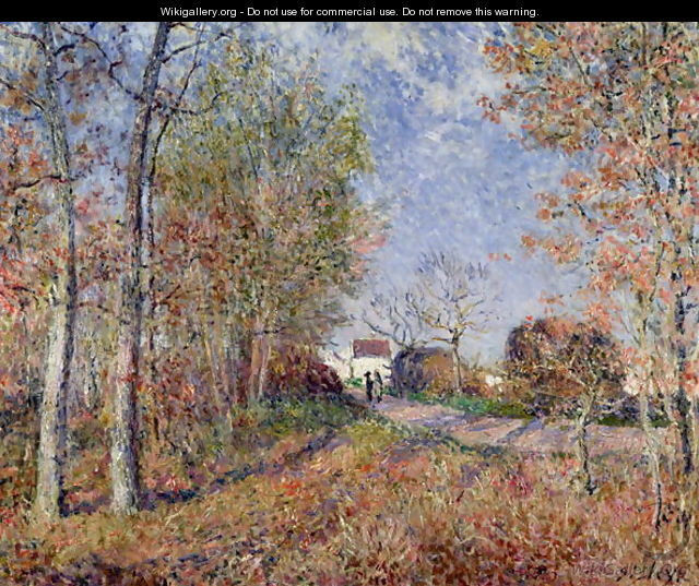 A Corner of the Woods at Sablons, 1883 - Alfred Sisley