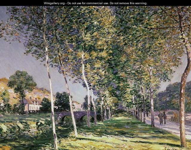 A Road in Louveciennes, 1883 - Alfred Sisley