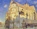 The Church at Moret, Frosty Weather, 1893 - Alfred Sisley