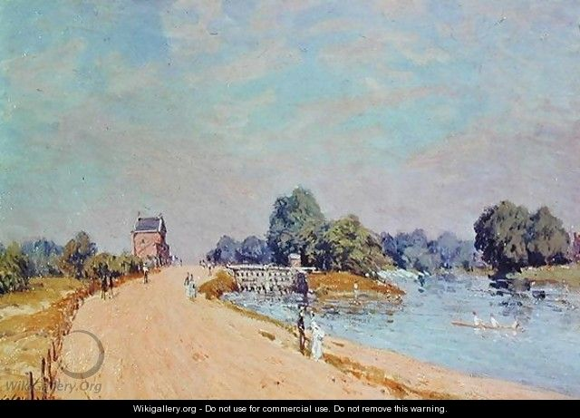 The Road to Hampton Court, 1895 - Alfred Sisley