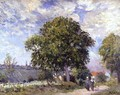 The Entrance to the Village, c.1880 - Alfred Sisley