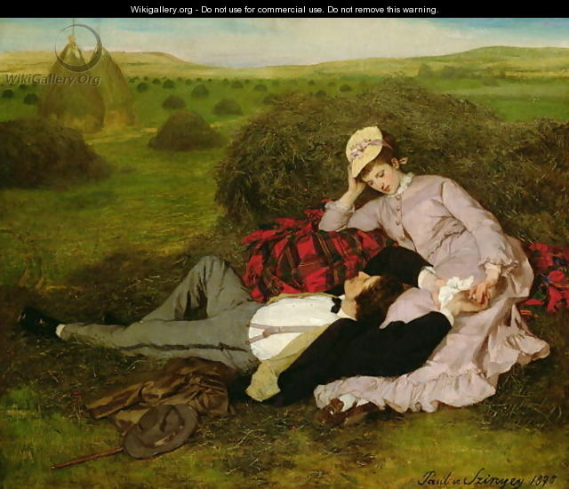 The Lovers, 1870 - Pal Merse Szinyei