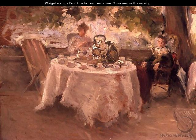 The Tea Party - Henry Tonks