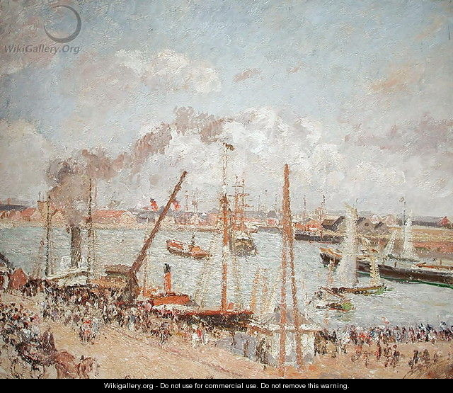 The Port of Le Havre, Afternoon, Sun, 1903 - Camille Pissarro