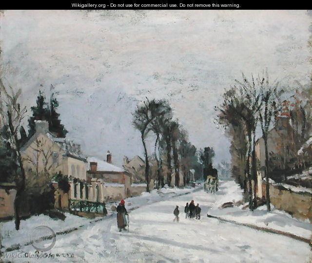 The Versailles Road at Louveciennes, 1869 - Camille Pissarro