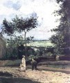The Courtyard at Louveciennes - Camille Pissarro