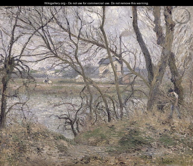 The Banks of the Oise, near Pontoise, Cloudy Weather, 1878 - Camille Pissarro