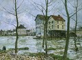 The Mills at Moret-sur-Loing, Winter, 1890 - Alfred Sisley