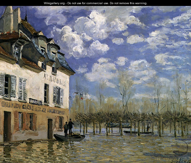 The Boat in the Flood, Port-Marly, 1876 - Alfred Sisley