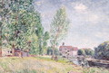 The Builder's Yard at Matrat, Moret-sur-Loing - Alfred Sisley