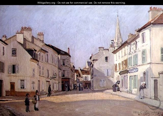 Rue de la Chaussee at Argenteuil, 1872 - Alfred Sisley