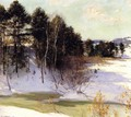 Thawing Brook (Winter Shadows) 1911 - Willard Leroy Metcalf