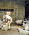 Sheep Shearing - Alexander Mann