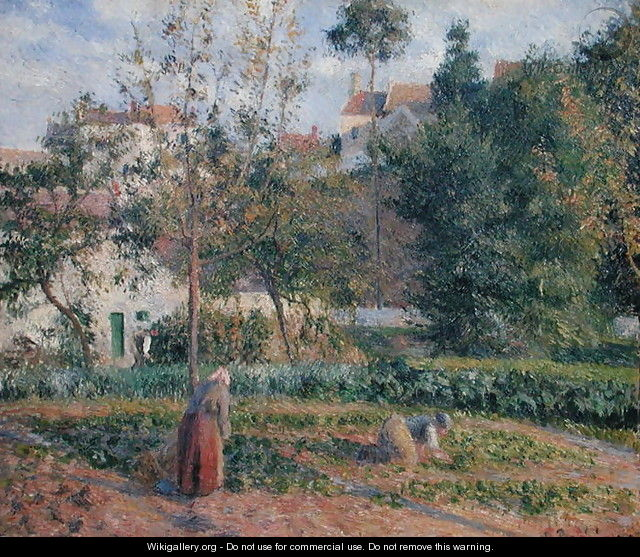 Vegetable Garden at the Hermitage, Pontoise, 1879 - Camille Pissarro