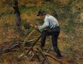 Pere Melon Sawing Wood, Pontoise, 1879 - Camille Pissarro