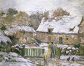A Farm at Montfoucault- Effect of Snow, 1876 - Camille Pissarro