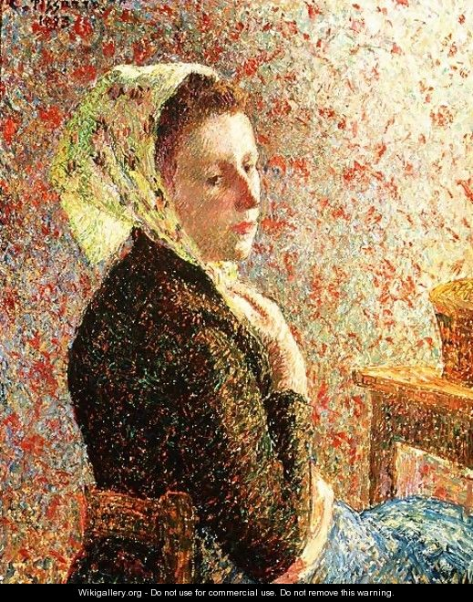 Woman wearing a green headscarf, 1893 - Camille Pissarro