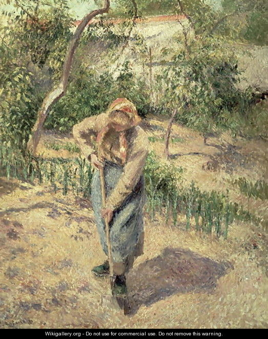 Woman Digging in an Orchard, 1882 - Camille Pissarro