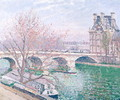 The Pont-Royal and the Pavillon de Flore, 1903 - Camille Pissarro