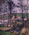 The Banks of the Viosne at Osny in Grey Weather, Winter, 1883 - Camille Pissarro