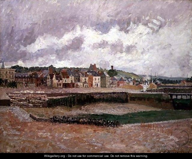 Dieppe, the Duquesne Basin, 1902 - Camille Pissarro