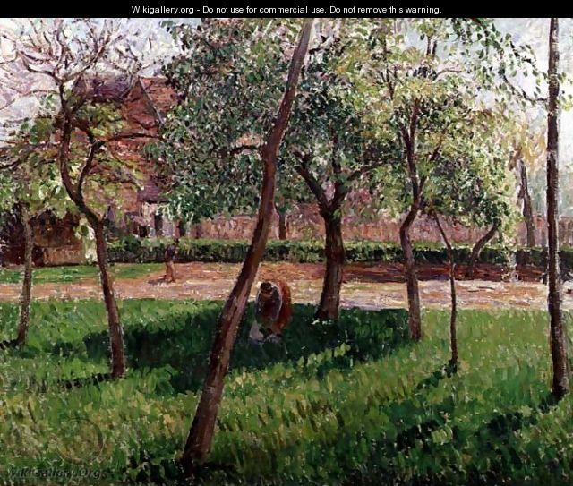 Walled Garden At Eragny 1895 Camille Pissarro The Largest Gallery In The World