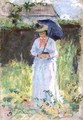 Woman with a Parasol - Camille Pissarro