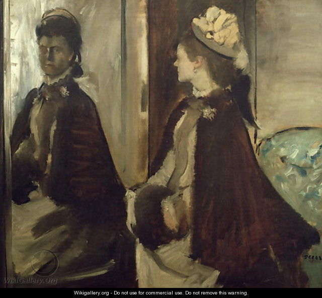 Madame Jeantaud in the mirror, c.1875 - Edgar Degas