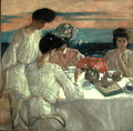 Afternoon Tea on the Terrace - Frederick Carl Frieseke