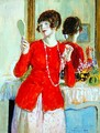 Woman with a Mirror - Frederick Carl Frieseke